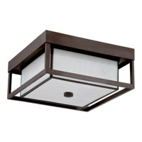 Quoizel Lighting Powell 3 Light Outdoor Semi-Flush Mount in Western Bronze PWL1613WT alternative photo thumbnail