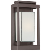 Quoizel Lighting Powell 1 Light Outdoor Wall Lantern in Western Bronze PWL8307WT