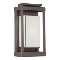 Quoizel Powell 1 Light Outdoor Wall Lantern in Western Bronze PWL8307WTFL