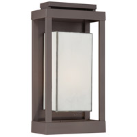 Quoizel Lighting Powell 1 Light Outdoor Wall Lantern in Western Bronze PWL8309WT