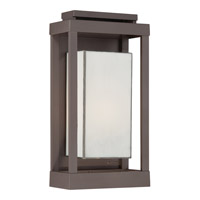 Quoizel Powell 1 Light Outdoor Wall Lantern in Western Bronze PWL8309WTFL