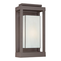 Quoizel Powell 1 Light Outdoor Wall Lantern in Western Bronze PWL8311WTFL