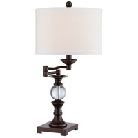 Quoizel Q1632TPN Signature 24 inch 100 watt Palladian Bronze Table Lamp Portable Light