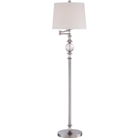 Quoizel Q1633FBN Signature 60 inch 100 watt Brushed Nickel Floor Lamp Portable Light
