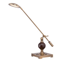 Quoizel Signature LED Table Lamp in Aged Brass Q1852TAB