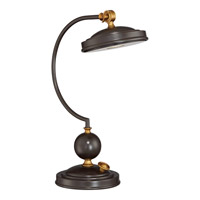 Signature 19 inch 2 watt Western Bronze Table Lamp Portable Light