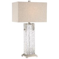 Signature 29 inch 150 watt Brushed Nickel Table Lamp Portable Light