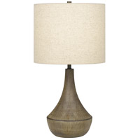 Quoizel Q4065T1 Rockville 23 inch 100 watt Weathered Elm Table Lamp Portable Light