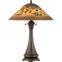 Quoizel Lighting Signature 2 Light Table Lamp in Bronze Q490T