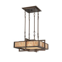 Quoizel Lighting Signature 4 Light Pendant in Renaissance Copper QF1191CRC