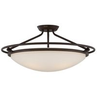 Signature 4 Light 25 inch Western Bronze Semi-Flush Mount Ceiling Light