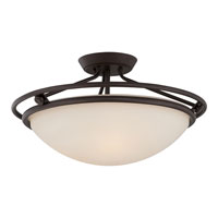 Quoizel Lighting Signature 3 Light Semi-Flush Mount in Western Bronze QF1202SWT alternative photo thumbnail