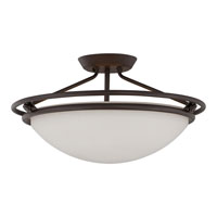 Quoizel QF1202SWT Signature 3 Light 20 inch Western Bronze Semi-Flush Mount Ceiling Light alternative photo thumbnail