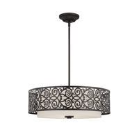 Quoizel Lighting Signature 3 Light Pendant in Imperial Bronze QF1208CIB photo thumbnail