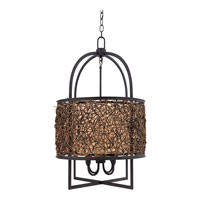 Quoizel Lighting Signature 4 Light Pendant in Serengeti QF1215CSN