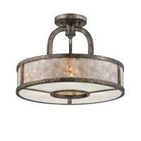 Quoizel Lighting Signature 3 Light Semi-Flush Mount in Mottled Silver QF1398SMM