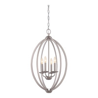 Quoizel Signature 4 Light Foyer Light in Brushed Nickel QF1402CBN