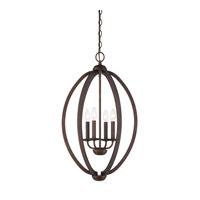 Signature 4 Light 17 inch Museum Bronze Foyer Chandelier Ceiling Light