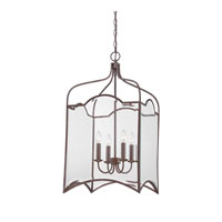 Quoizel Lighting Signature 4 Light Chandelier in Copper Rustic Antique QF1403CRA