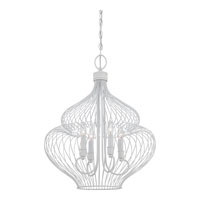 Quoizel Lighting Signature 4 Light Chandelier in Fresco QF1676W