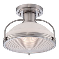 Signature 1 Light 14 inch Brushed Nickel Semi-Flush Mount Ceiling Light