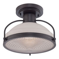 Quoizel Signature 1 Light Semi-Flush Mount in Western Bronze QF1678WT