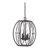 Quoizel Signature 4 Light Foyer Chandelier in Imperial Bronze QF1686IB