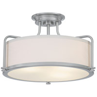 Quoizel QF1715BN Calvary 3 Light 18 inch Brushed Nickel Semi-Flush Mount Ceiling Light