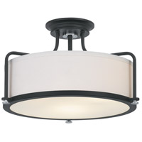 Quoizel QF1715EK Calvary 3 Light 18 inch Earth Black Semi-Flush Mount Ceiling Light