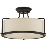 Quoizel QF1715WT Calvary 3 Light 18 inch Western Bronze Semi-Flush Mount Ceiling Light in A19 Medium Base