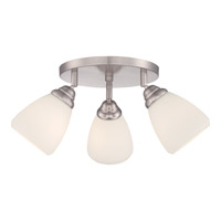 Quoizel Signature 3 Light Flush Mount in Brushed Nickel QF1778SBN