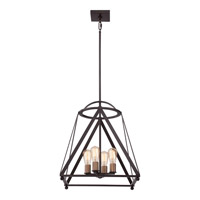 Quoizel Signature 4 Light Foyer Chandelier in Western Bronze QF1829WT