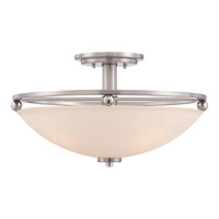 Quoizel Signature 5 Light Semi-Flush Mount in Brushed Nickel QF1830BN