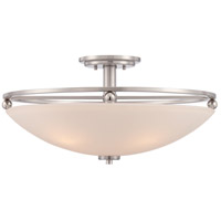Signature 4 Light 17 inch Brushed Nickel Semi-Flush Mount Ceiling Light