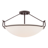 Quoizel Signature 4 Light Semi-Flush Mount in Western Bronze QF1835WT