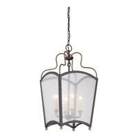 Quoizel Signature 4 Light Foyer Chandelier in Imperial Bronze And Aged Copper QF1838IBC