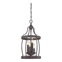 Quoizel Signature 4 Light Foyer Chandelier in Rustic Black QF1839RK
