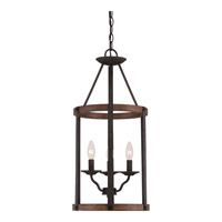 Signature 3 Light 13 inch Rustic Black Foyer Chandelier Ceiling Light