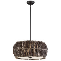 Retreat 4 Light 22 inch Dark Cherry Pendant Ceiling Light
