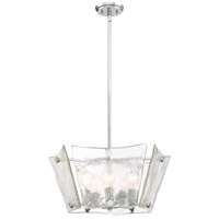 Glaze 5 Light 24 inch Polished Chrome Pendant Ceiling Light