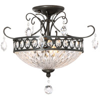 Emma 3 Light 17 inch Imperial Bronze Semi-Flush Mount Ceiling Light