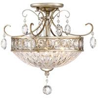 Emma 3 Light 17 inch Vintage Silver Semi-Flush Mount Ceiling Light