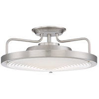 Signature LED 15 inch Brushed Nickel Semi-Flush Mount Ceiling Light