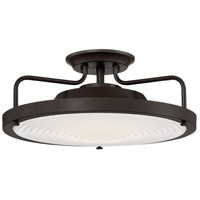Signature LED 15 inch Western Bronze Semi-Flush Mount Ceiling Light