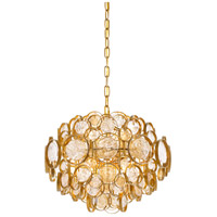 Quoizel QF3395GF Signature 6 Light 18 inch Gold Finch Pendant Ceiling Light