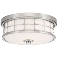 Signature 2 Light 14 inch Brushed Nickel Flush Mount Ceiling Light