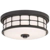 Signature 2 Light 14 inch Old Bronze Flush Mount Ceiling Light