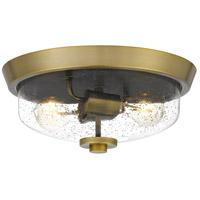 Quoizel QF3414AB Radius 2 Light 13 inch Aged Brass Flush Mount Ceiling Light