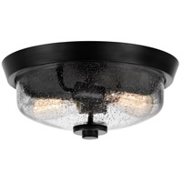 Quoizel QF3414EK Signature 2 Light 13 inch Earth Black Flush Mount Ceiling Light
