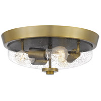 Quoizel QF3415AB Radius 3 Light 15 inch Aged Brass Flush Mount Ceiling Light